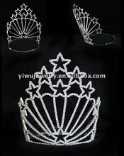 H172-126 Wholesale Fashion Star Pageant Rhinestone Tiaras for women
