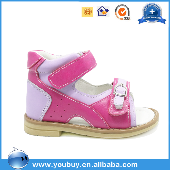 Bright color orthopedic safety shoes for kids girls latest fancy footwear china factory
