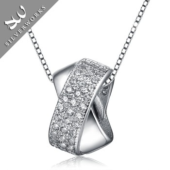 Wholesale White Zircon Stone Sterling Silver Charm