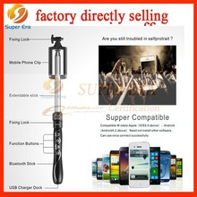 factory directly selling Extendable Portable Mobile Phone Bluetooth Selfie Monopod Selfie Stick Tripod For IOS&Android Phone