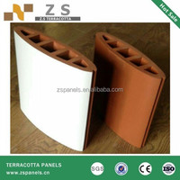 Dry hanging terracotta louver heat resistant wall panels