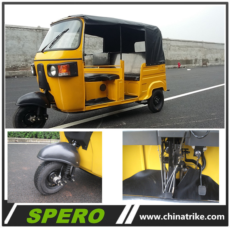 China bajaj 200cc 250cc tuk tuk rickshaw passenger tricycle