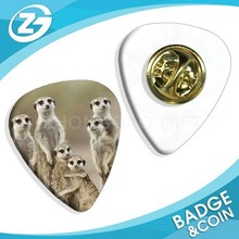 Collectable Custom Meerkat Familly Meerkats Logo Guitar Pick shaped Badge