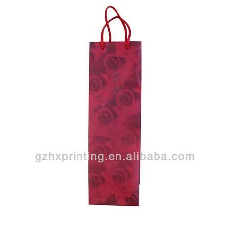 cheap Customized wine packing clear paper bag