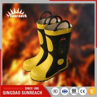 Used Safety Fire Fighting Boots Of Military