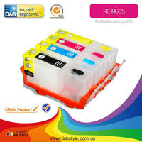 for HP 655 cartridge for 4615 printer refill ink cartridge