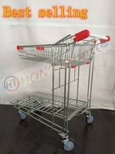 Heavy duty metal airport transport cargo trolley