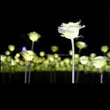 Outdoor Fabric + Plastic Flowers Led Light Rose Flowers For Home/Wedding Decoration