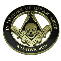 wholesale round skull masonic car Emblems