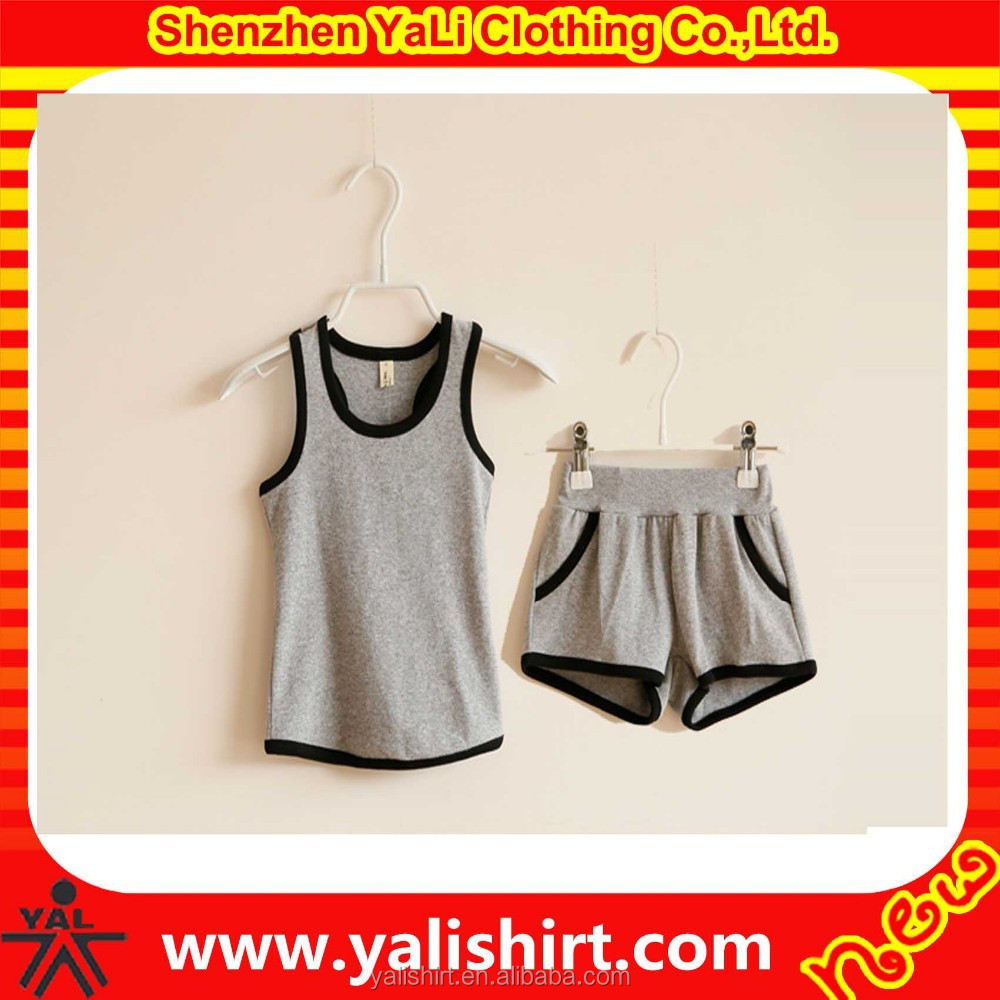 wholesale soft wear fashionable blank baby good cotton material cheap suit