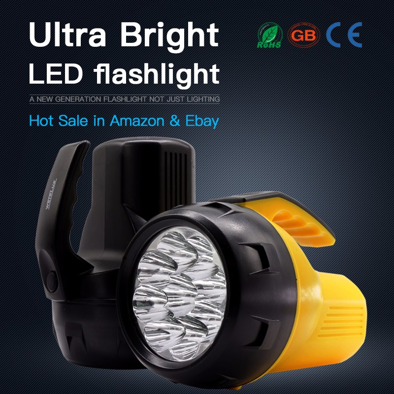 9 Led Outdoor Portable Factory Prices Handheld Hunting Spotlight Powerful Led Searchlight