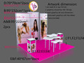 Shanghai trade show booth factory provide booth display
