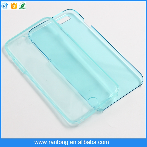 New Clean transparent tpu pc 360 phone case for iphone 6 plus