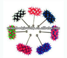 Fashion cheap silicone vibrating tongue barbell ring tongue piercing body jewelry