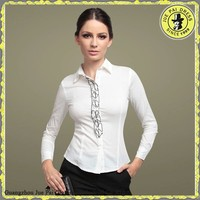 Commercial Female's Occupational Blouse For White Collar