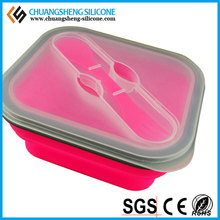 Office lady lunch box, portable silicone bowl, eco-friendly lunch case