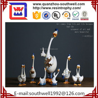 Hot Sale Resin Silver Swan Statue/polyresin Swan Figurine For Home Decoration