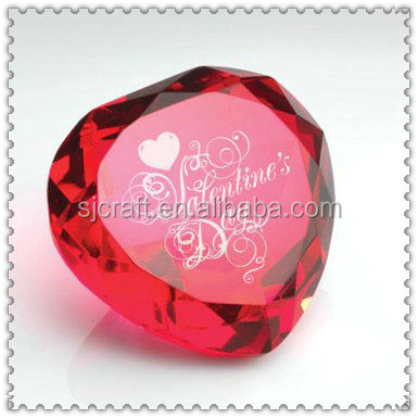 Red Crystal Heart Diamond For Wedding Door Gifts SJ-ZS709