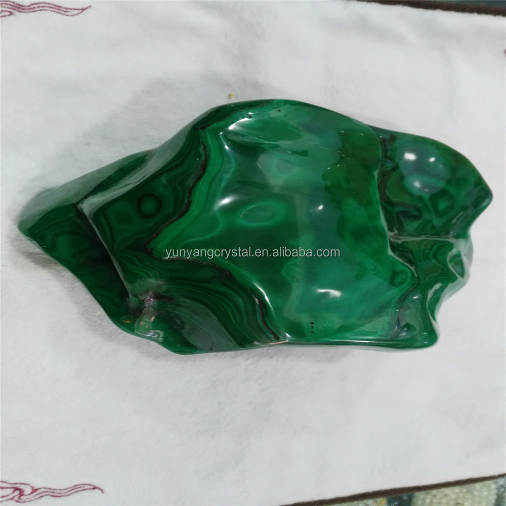 natural clear crystal crafts Green Malachite crystal quartz stone for sale raw quartz price