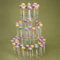Customized Clear acrylic plastic lollipop cake pop display stand wholesale