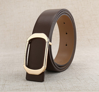 Durable genuine leather belt fashion hot sale alloy pin buckle leather belt for men
