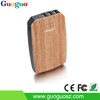 Smartphone accessories wooden portable power bank 10000mah battery charger with 3 usb ports and torch