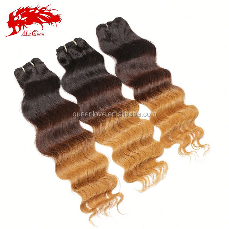 2015 Top sales brazilian human hair wet and wavy weave