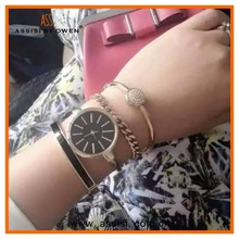 Assisi brand fashion Hot Colorful Vintage women watches Weave Wrap Rivet Leather Bracelet wristwatches watch