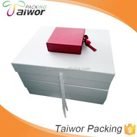 Large Size White Folding Paper Box for Wedding Dress Packaging
