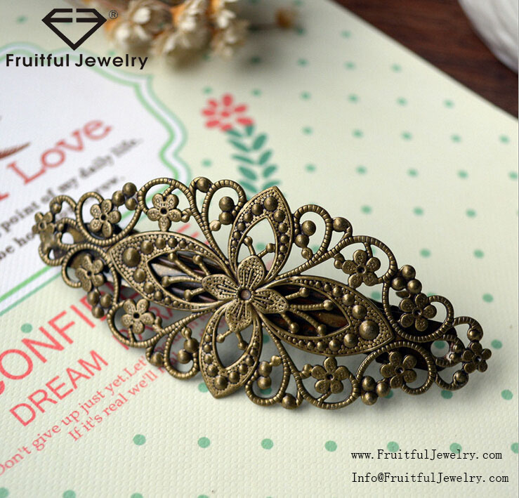 2016 latest design Retro large flower vine Hair Accessories Hair Clips