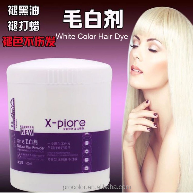 Without ammonia and without ppd hair dye white color