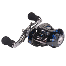 Baitcasting Fishing Reel 13+1 Ball Bearings Casting Reel Magnetic Braking System Baitcaster with Stainless Ball Bearings Reel