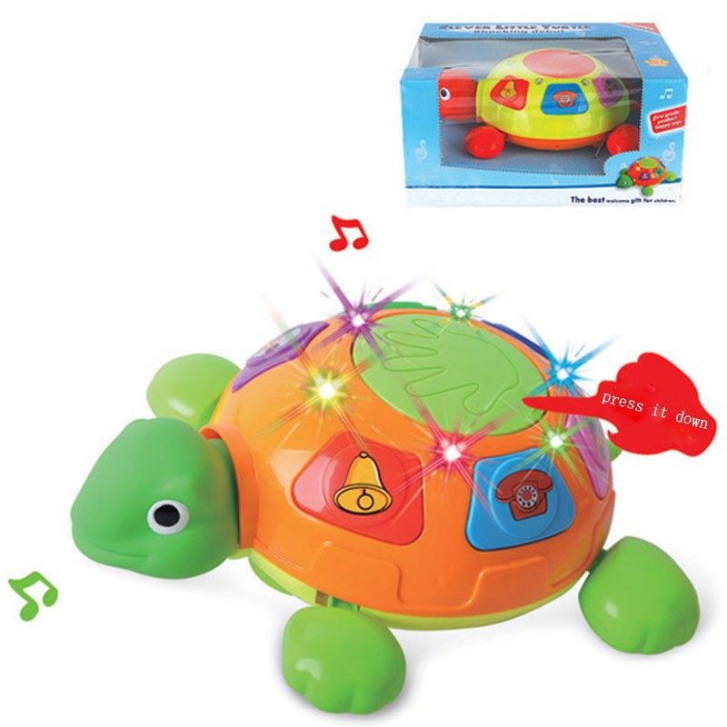 Bump and go tortoise battery operated toy