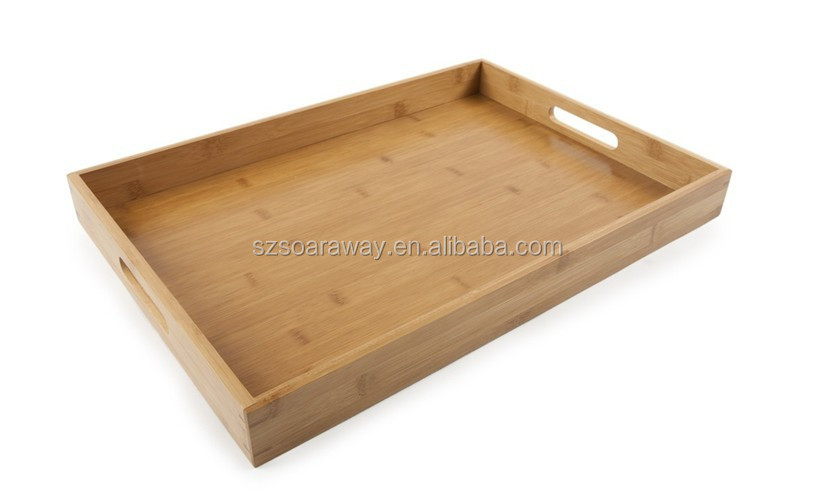 2016 Bamboo wood tray wholesale serving trays