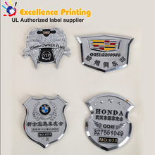 3D plastic Car Logo /Custom Car Emblem /ABS Chrome stickers