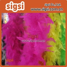 pink high quality Turkey Feather Boa for headband in bulk
