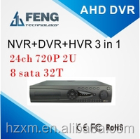 New Technology realtime 720P 24ch AHD DVR with p2p onvif 3g wifi