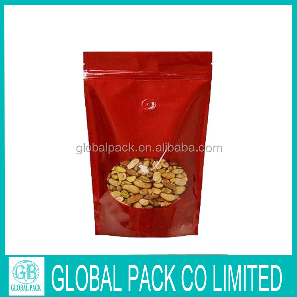 Custom printing nut stand up pouch /peanut bag with zipper/chololate packaging bag