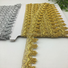 sewing crafts costume accessories supplier gold and silver braid fringe cord scallop lace trim