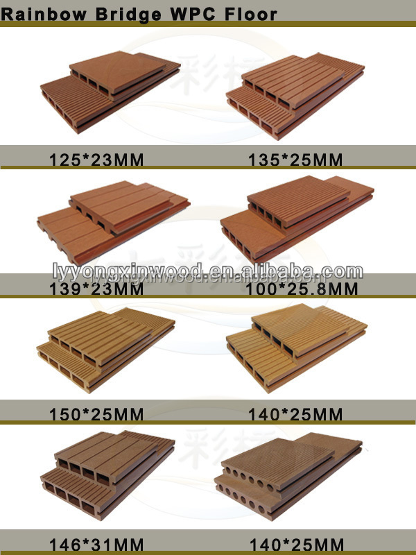 Promotional Bamboo Composite Decking Plastic Sheets For