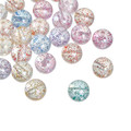 Acrylic Spacer Beads Round Clear AB Color At Random Sequins About 16mm Dia, Hole: Approx 2mm