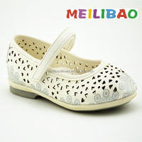 hollow out leather baby shoes