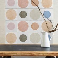 Matte Finish Dot Muster Candy Farbe Kombination Für Wand Und Boden 6x6  Keramik Fliesen In Schlafzimmer