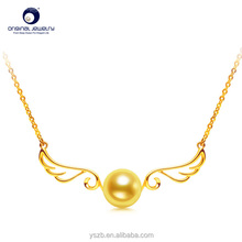 [YS]New design 18K gold Angel wing akoya pearl pendant