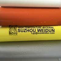 0.35mm white silicon rubber coated fiberglass fabric