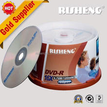 hot sale RISHENG4.7GB blank silver dvd r or dvd-r empty disc with printing get free sample