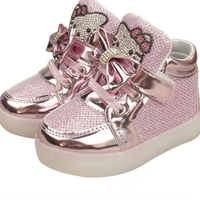 Cartoon Hello Kitty Kids Sports Platform Light Up Shoes