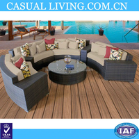 Outdoor and living room tv set furniture poly rattan high garden furniture