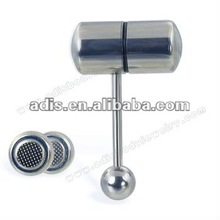 Stainless steel cheap piercing sexy vibrating tongue barbell rings