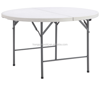 4u0027 Plastic Folding Moon Half Round Table For Event And Rental, Banquet Table  For